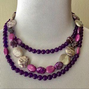 Jewelry - Purple 3 layers necklace